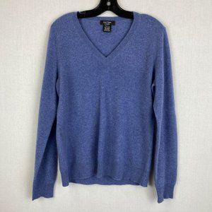 LORD & TAYLOR 100% Cashmere V- Neck Sweater